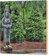 Asian Statue Jefferson Island  Wood Print