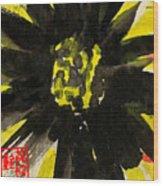 Asian Sunflower Wood Print
