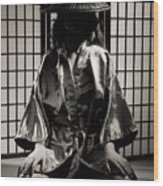 Asian Woman In Kimono Wood Print