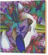 Asiatic Lilies Abstraction  Wood Print