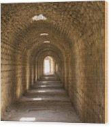 Asklepios Temple Passageway Wood Print