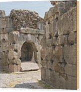 Asklepios Temple Ruins Wood Print