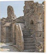 Asklepios Temple Ruins View 2 Wood Print