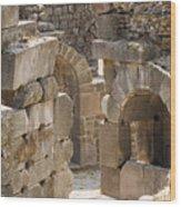 Asklepios Temple Ruins View 3 Wood Print