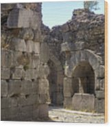 Asklepios Temple Ruins View 4 Wood Print