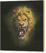 Aslan Wood Print