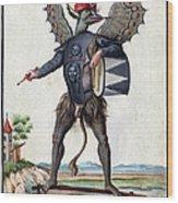 Asmodeus, King Of Demons, 18th Century Wood Print