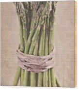 Asparagus Spears Wood Print