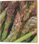Asparagus Tips 2 Wood Print