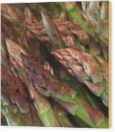 Asparagus Tips Wood Print