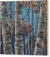 Aspen Forest In The Rocky Mountain Wood Print