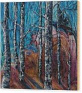 Aspen Grove - 2 Wood Print