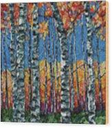 Aspen Grove By Olena Art Wood Print