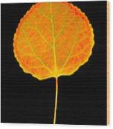 Aspen Leaf Wood Print