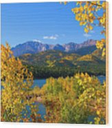 Aspen On Pikes Peak And Crystal Reservoir Wood Print