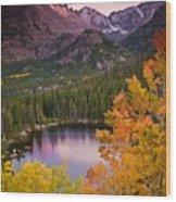 Aspen Sunset Over Bear Lake Wood Print