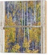 Aspen Tree Magic Cottonwood Pass White Farm House Window Art Wood Print