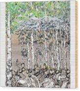Aspendoodle Wood Print