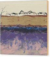 Aspens In Winter Wood Print