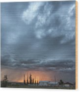 Asperitas Sunset Wood Print