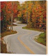 Asphalt Creek in Door County Wood Print