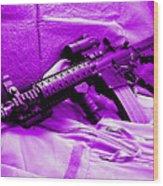 Assault Rifle Wood Print