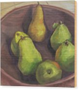 Assorted Pears Wood Print