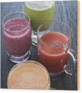 Assorted Smoothies Wood Print