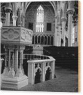 Assumption Baptism Wood Print