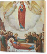 Assumption Of The Blessed Virgin Mary Into Heaven Wood Print