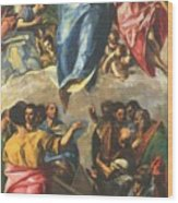 Assumption Of The Virgin 1577 Wood Print