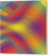 Assymetric Flow Wood Print