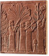 Assyrian Queen, 645 B.c Wood Print