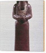 Assyrian Statue Wood Print