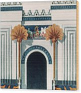 Assyrian Temple Wood Print