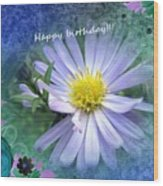 Aster ,  Greeting Card Wood Print