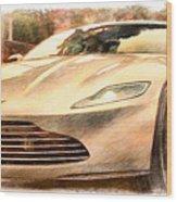 Aston Martin Db10 Wood Print