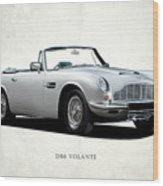 Aston Martin Db6 Wood Print