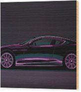 Aston Martin Dbs V12 2007 Painting Wood Print