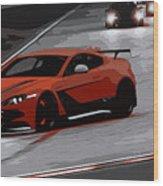 Aston Martin Vantage Gt12 Wood Print