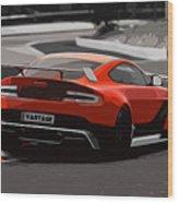 Aston Martin Vantage Gt12 - Trackday Wood Print