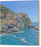 Astonishing Magnificient Manarola In Cinque Terre Wood Print