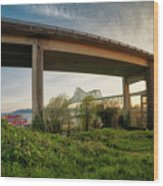 Astoria Bridge Sunrise Wood Print
