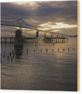 Astoria-megler Bridge 2 Wood Print