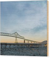 Astoria Megler Bridge By Riverwalk Panorama Wood Print