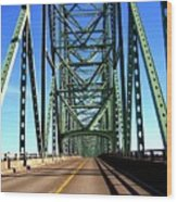 Astoria-megler Bridge Wood Print
