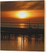 Astoria Oregon Sunset Wood Print