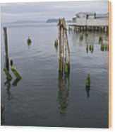 Astoria Waterfront Wood Print