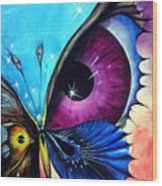 Astral Butterfly. Soul - Memory - Mind Wood Print