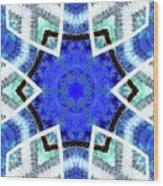 Astral Star Mandala Wood Print